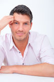 Positive handsome man Royalty Free Stock Photo
