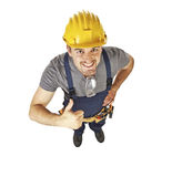 Positive handyman Stock Image