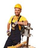 Positive handyman Stock Photography