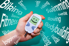 Positive health habits that fight diabetes Royalty Free Stock Photography