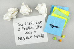 Positive inspirational quote Stock Image