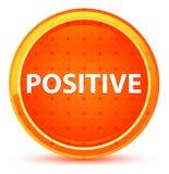 Positive Natural Orange Round Button stock illustration