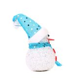 Positive joyful snowman. Christmas decoration. Stock Image