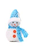 Positive joyful snowman. Christmas decoration Stock Photo