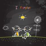 Positive kids affirmations, I Forgive Royalty Free Stock Photo