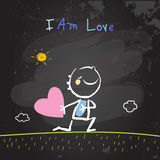 Positive kids affirmations, I am Love Royalty Free Stock Photography