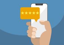 Positive on-line-Bewertung und Marktstudieillustration Lizenzfreies Stockfoto
