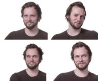 Positive male expressions. Royalty Free Stock Images