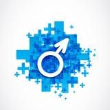Positive male gender symbol Stock Photos