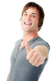 Positive man sign Stock Photography