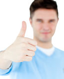 Positive man with thumb up Royalty Free Stock Photography