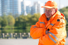 Positive man worker Royalty Free Stock Images