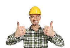 Positive manual worker Royalty Free Stock Image
