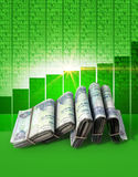 Positive Market Money Royalty Free Stock Photography