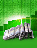 Positive Market Money Stock Photo
