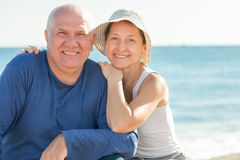 Positive mature couple Stock Images