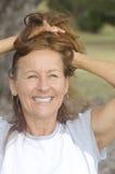Positive mature woman active retirement Stock Image