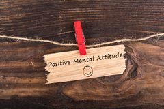 Positive mental attitude stock image