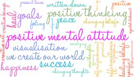 Positive Mental Attitude Word Cloud. On a white background Stock Photography