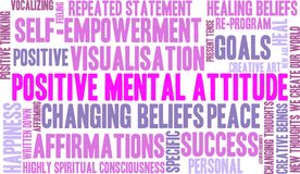 Positive Mental Attitude Word Cloud. On a white background Royalty Free Stock Images
