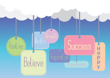 Positive message badge collection Stock Photo
