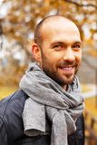 Positive middle-aged man on autumn day Royalty Free Stock Photography