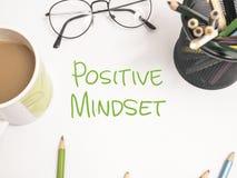 Positive Mindset, Motivational Words Quotes Concept stock illustration
