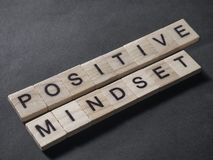 Positive Mindset, Motivational Words Quotes Concept royalty free stock images