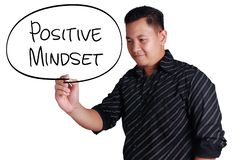 Positive Mindset, Motivational Words Quotes Concept royalty free stock photo