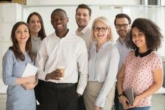 Free Positive Multi Racial Corporate Team Posing Looking At Camera Royalty Free Stock Photos - 160749748