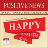 Positive Nachrichten - Jugend-Tag Stock Abbildung