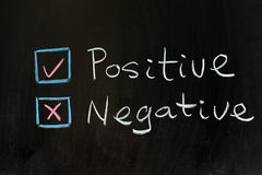 Positive or negative. Chalk drawing - Positive or negative Royalty Free Stock Photos