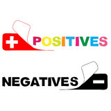Positive. negative Royalty Free Stock Photography