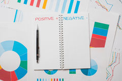 Positive negative concept. Abstract background Stock Photography
