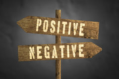 Positive or Negative concept road sign Royalty Free Stock Photography
