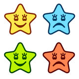 Positive and negative faces of stars Royalty Free Stock Photos