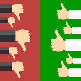 Positive and negative feedback concept. Vector illustration Stock Photo