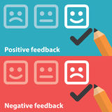Positive and negative feedback Royalty Free Stock Photography