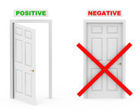 Positive and negative Royalty Free Stock Image