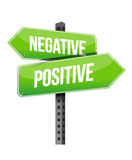 Positive negative sign Stock Images