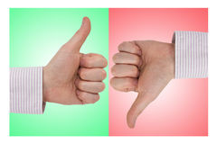 Positive and negative signs Royalty Free Stock Photography