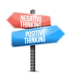 Positive and negative thinking street sign. Stock Images