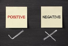 Positive but not negative Royalty Free Stock Photography