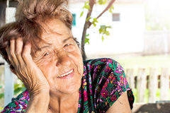 Positive old face Stock Image