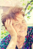 Positive old female Royalty Free Stock Images