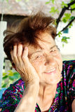 Positive old female portrait Royalty Free Stock Photo