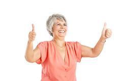 Positive old woman Stock Images