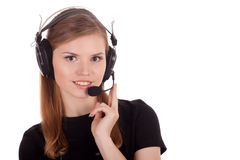 Positive operator call center Stock Photo