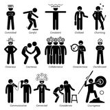 Positive Personalities Character Traits Clipart Royalty Free Stock Image