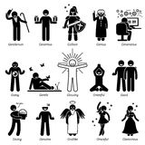 Positive Personalities Character Traits Clipart Royalty Free Stock Photo